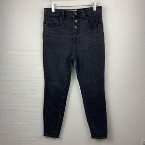 Everlane Faded Black High Rise Ankle Length Jeans